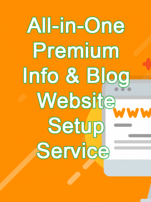 jincart All-in-One Premium Info & Blog Website Setup Service