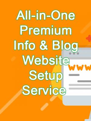 jincart All-in-One Premium Info & Blog Website Setup Service