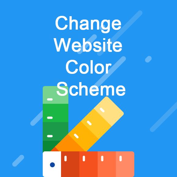 jincart change-website-color-scheme
