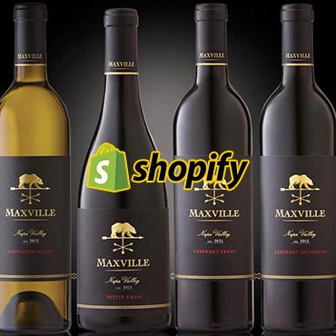 jincart website design maxville wine shopify